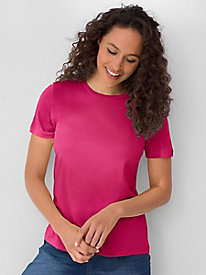 Short-sleeve Crewneck in Silk Cotton