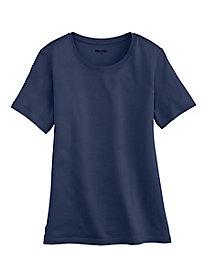 Short-sleeve Crewneck in Silk Cotton