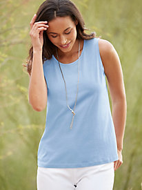 Scoopneck Silk Cotton Tank