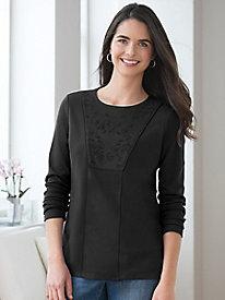 Long-Sleeve Pima Cotton Tunic
