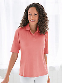 Linen Cotton Short-Sleeve Polo