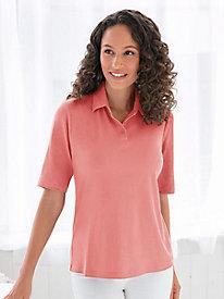 Linen Cotton Short-Sleeve Polo