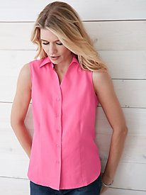 Signature Silk Cotton Sleeveless Blouse
