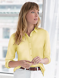 Classic Silk Cotton Button-up Shirt