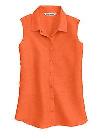 Silk Linen Sleeveless Shirt