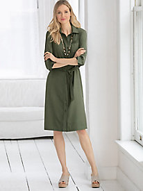 Silk Fuji Shirt Dress