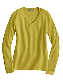 Fine Gauge Silk Cotton V-Neck Sweater