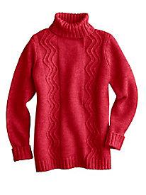 Cotton Wool Turtleneck Sweater