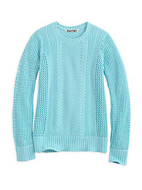 Cotton Open-Knit Sweater