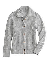 Silk Cotton Chunky Cardigan Sweater