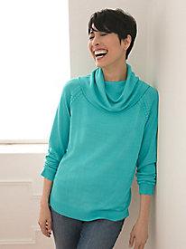 Silk Cotton Fine-Gauge Long-Sleeved Sweaters
