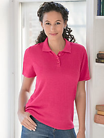 Fine-Gauge Silk Cotton Short-Sleeve Polo
