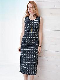 Silk Linen Sleeveless Dress
