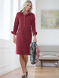 Long-Sleeve Corduroy Dress