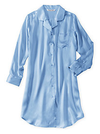 Washable Silk Charmeuse Nightshirt