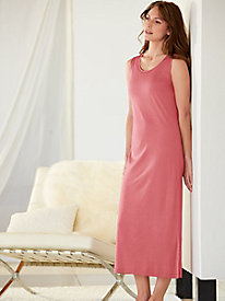 Below-Knee Nightshirt in Mid-weight Silk Modal