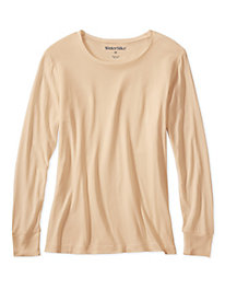 Ladies' Long Sleeve Crewneck Top in Lightweight Washable Silk