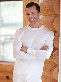 9ba655d4602c25 4 Men's Long Sleeve Crewneck Top in Lightweight Washable Silk