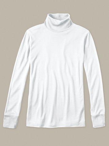 Ladies' Long Sleeve Turtleneck in Lightweight Washable Silk - Image 1 of 4