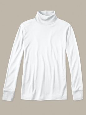 Ladies' Long Sleeve Turtleneck in Lightweight Washable Silk