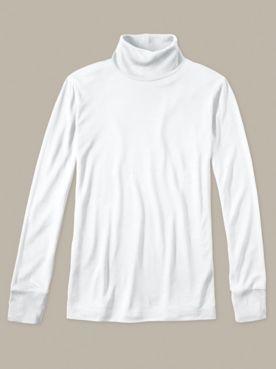 Ladies' Long Sleeve Turtleneck in Lightweight Washable Silk