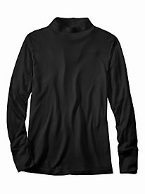 Men's Long Sleeve Mock Neck Top in Lightweight Washable Silk