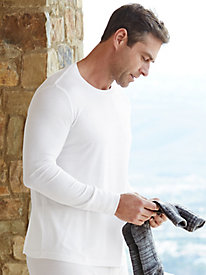 1a97329c2d2c34 4 Men's Long Sleeve Crewneck Top in Mid-weight Washable Silk