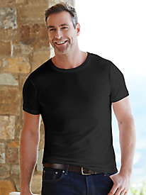 Men's Short Sleeve Crewneck Top in Mid-weight Washable Silk