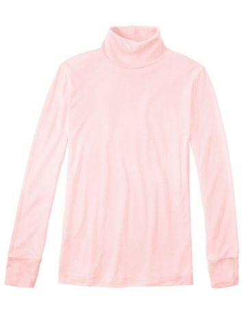 Ladies' Long Sleeve Turtleneck in Heavyweight Washable Silk - Image 1 of 4