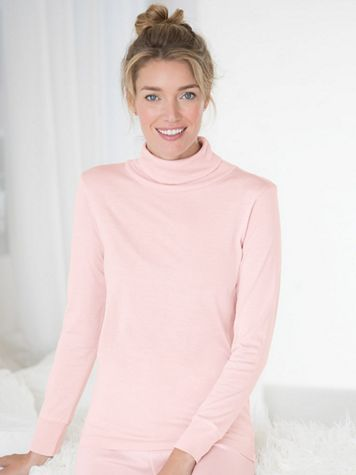 Ladies' Long Sleeve Turtleneck in Mid-weight Washable Silk - Image 1 of 3