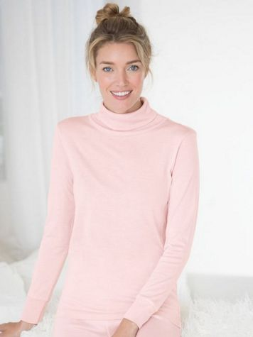 Ladies' Long Sleeve Turtleneck in Mid-weight Washable Silk