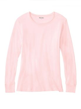 Ladies' Long Sleeve Crewneck Top in Mid-weight Washable Silk