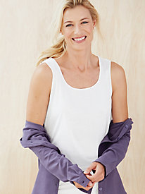Ladies' Scoop Tank in Mid-weight Washable Silk