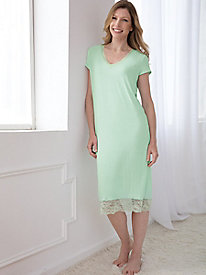 Short-Sleeve Nightgown With Lace
