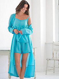 Linen Cotton Wrap Robe
