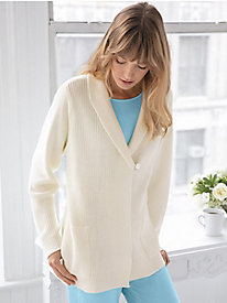 Cotton Sweater Knit Bed Jacket
