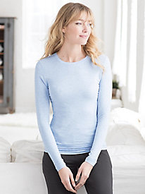Cuddl Duds Long Sleeve Crewneck Top