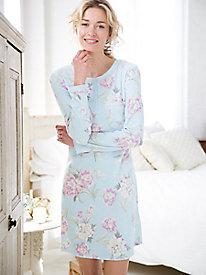 Miss Elaine Waffle Knit Nightshirt