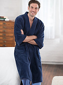 Men's Terry Kimono Robe by Majestic