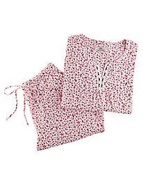 Aria Brushed Cotton Knit Pajama Set