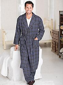 Men's Majestic Flannel Robe by WinterSilks