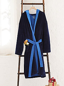 Men's Plush Terry Hooded Robe