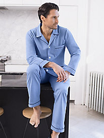 Men's Solid Piped Pajamas by Majestic