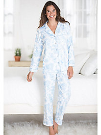 La Cera Cotton Flannel Pajamas