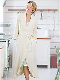 Softies Chenille Ruffle Trimmed Wrap Robe