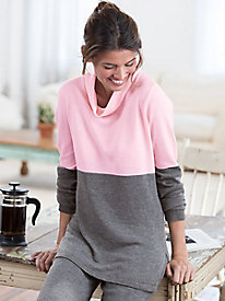 Wool Cashmere Cowlneck Tunic
