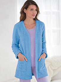 Teddy Fleece Open Cardigan