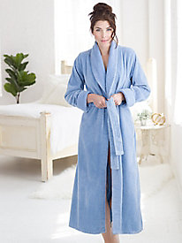 Cotton Chenille Wrap Robe