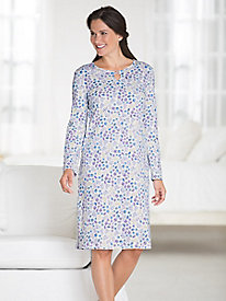 Cotton Interlock Keyhole Nightgown