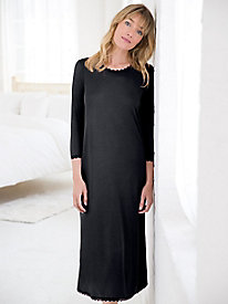Silk Modal 3/4 Sleeve Scoopneck Nightgown
